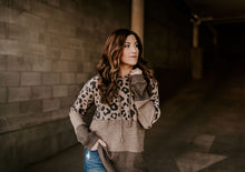 Load image into Gallery viewer, Leopard Soft Knit Hoodie