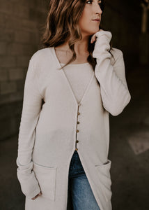 Limitless Ribbed Duster Cardigan & Camisole