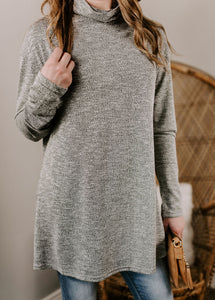 Elowyn Mock Neck Long Sleeve Tunic