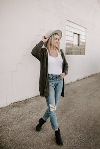 Jada Charcoal Long Sleeve Cardigan