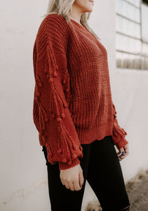 Joy Pom Knit Sweater Top