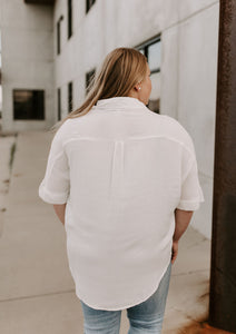 Olivia Button Down High Low Top