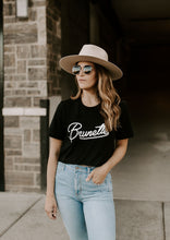Load image into Gallery viewer, Bre Brunette Graphic Short Sleeve Crop Tee
