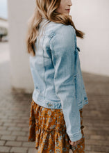Load image into Gallery viewer, Londyn Distressed Denim Jacket
