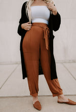 Load image into Gallery viewer, Cameron High Waisted Front Tie Textured Pants