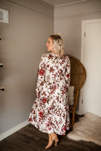 Load image into Gallery viewer, Vintage Soul Floral Print Midi Dress