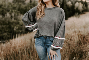 Brady Balloon Sleeve Knit Top