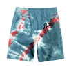TIE DYE WHITE GUMMY SHORT