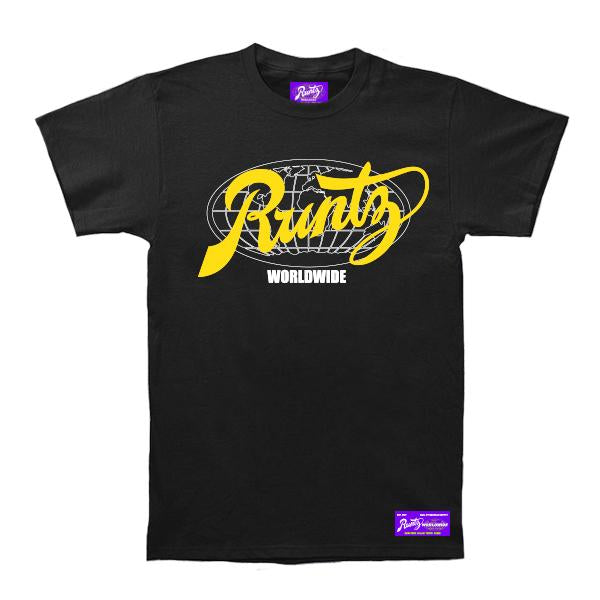 ALL COUNTY TEE - BLACK/YELLOW