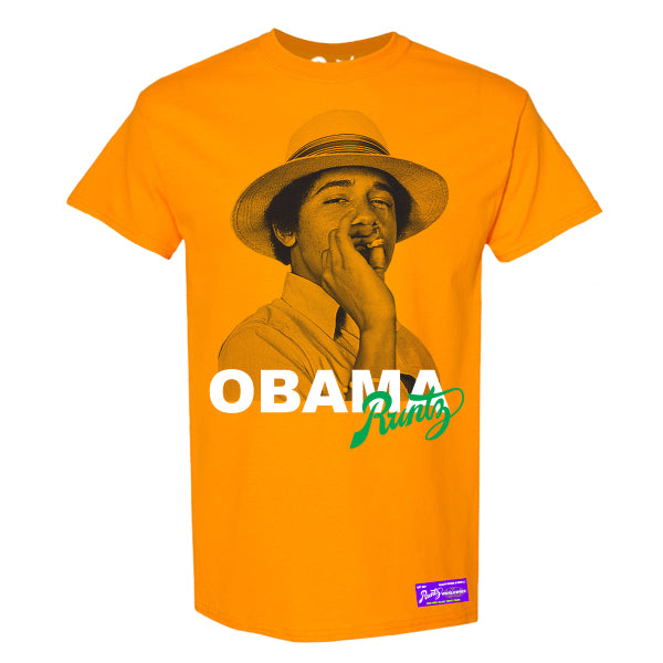 OBAMA RUNTZ TEE - ORANGE