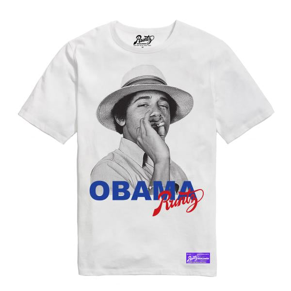 OBAMA RUNTZ TEE - WHITE