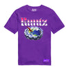 RUNTZ GLOBE TRAY TEE - PURPLE