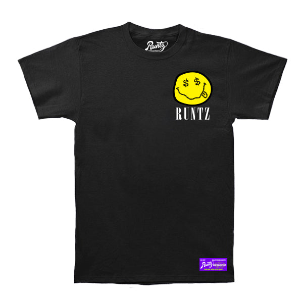 SMILEY RUNTZ TEE - BLACK
