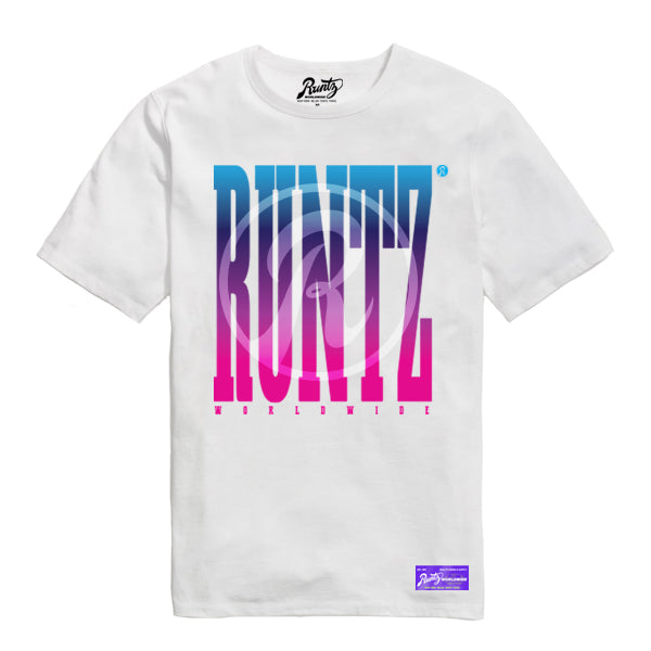 R LOGO RUNTZ WORLDWIDE TEE - WHITE