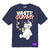 WHITE GUMMY TEE - NAVY