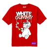 WHITE GUMMY TEE - RED