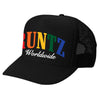 SOLID RAINBOW RUNTZ TRUCKER HAT-BLACK