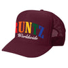 SOLID RAINBOW RUNTZ TRUCKER HAT-BURGUNDY