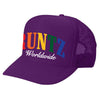 SOLID RAINBOW RUNTZ TRUCKER HAT-PURPLE