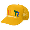 SOLID RAINBOW RUNTZ TRUCKER HAT- GOLD