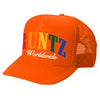 SOLID RAINBOW RUNTZ TRUCKER HAT- NEON ORANGE