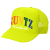 SOLID RAINBOW RUNTZ TRUCKER HAT- NEON YELLOW