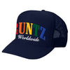 SOLID RAINBOW RUNTZ TRUCKER HAT- NAVY