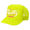SOLID RUNTZ WORLDWIDE TRUCKER HAT - NEON YELLOW