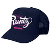 SOLID RUNTZ WORLDWIDE TRUCKER HAT - NAVY