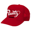 SOLID RUNTZ WORLDWIDE TRUCKER HAT - RED
