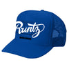 SOLID RUNTZ WORLDWIDE TRUCKER HAT - ROYAL BLUE