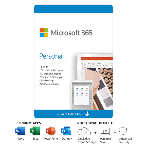 Microsoft Office 365 Personal 1 PC - Digital License