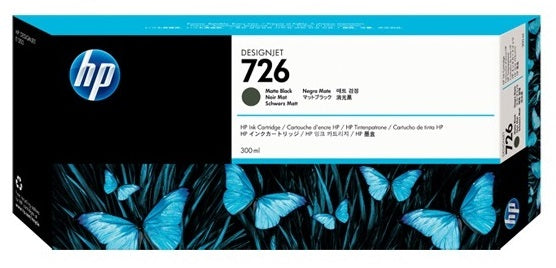 HP 726 300ML Matte Black Ink