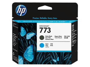 HP 773 Matte Black & Cyan Printhead