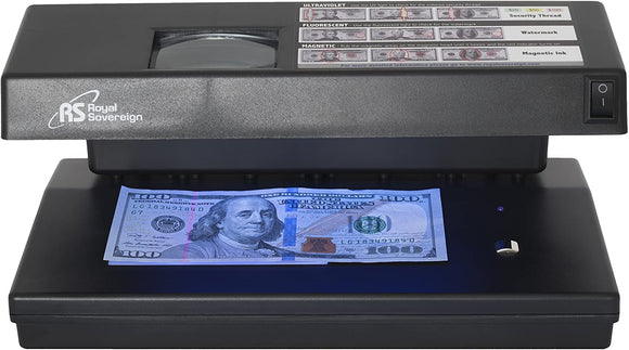 Ultraviolet, Magnetic Ink, Fluorescent, and Microprint 4-Way Counterfeit Detector