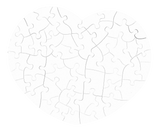 Heart Shaped Puzzle / Carton- Customize it!