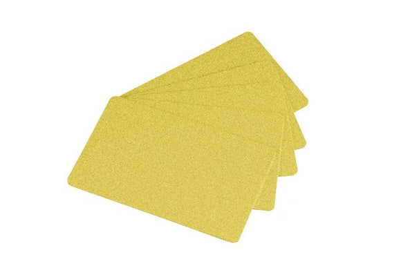 PVC Blank Gold Cards