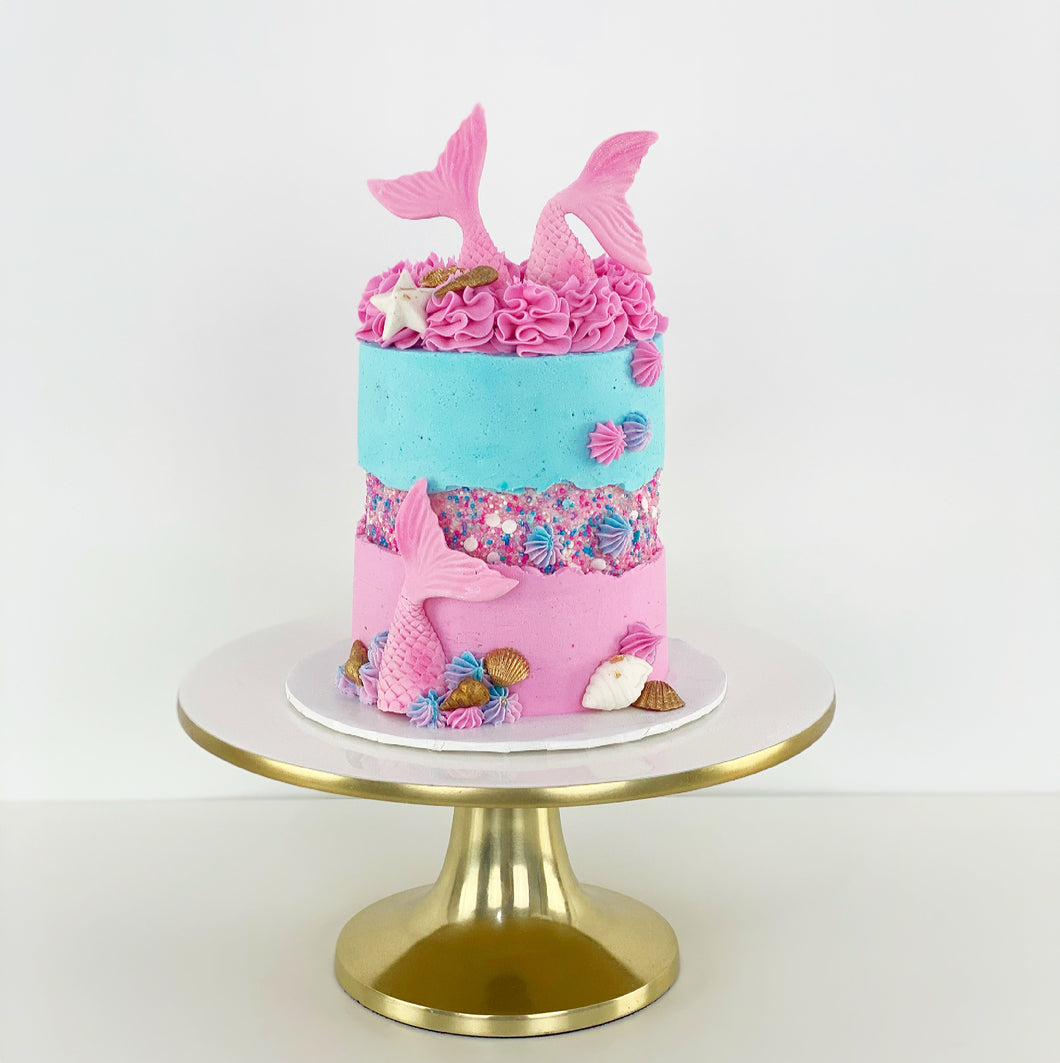 Gender reveal Mermaid Cake