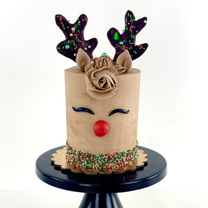 Holiday Rudolph Cake