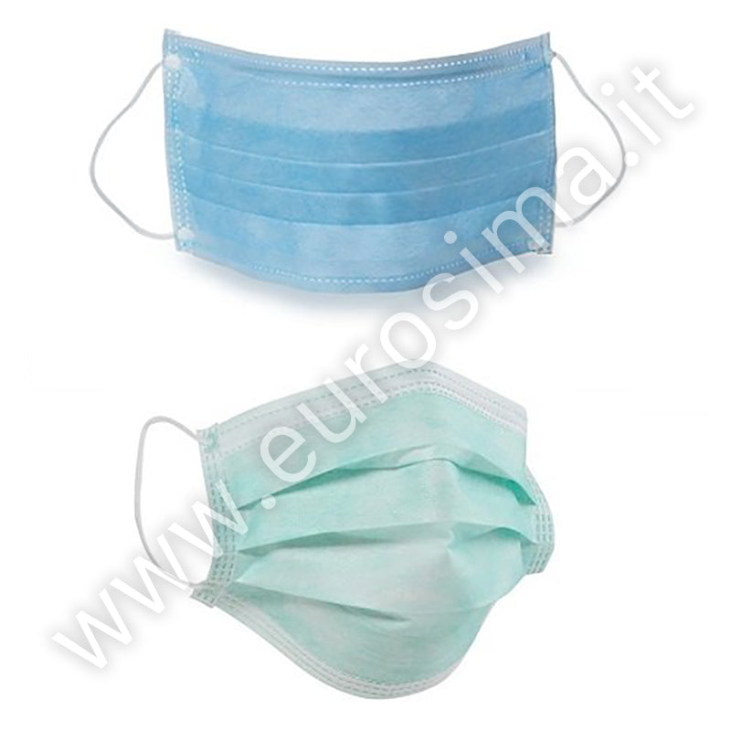 3-state surgical mask with rubber band - 50 pcs