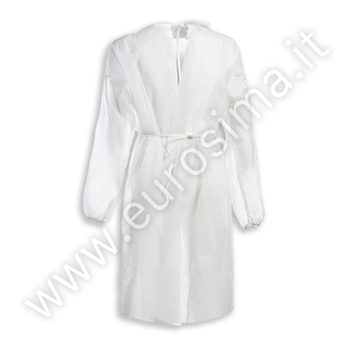 White water repellent gown 30 gr - 10 pcs