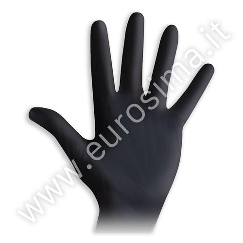 Powder-free black nitrile gloves - 100 pcs