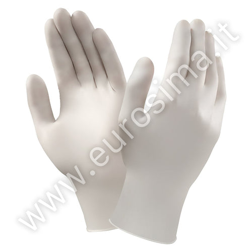 Latex gloves with powder, pack 100 pcs.