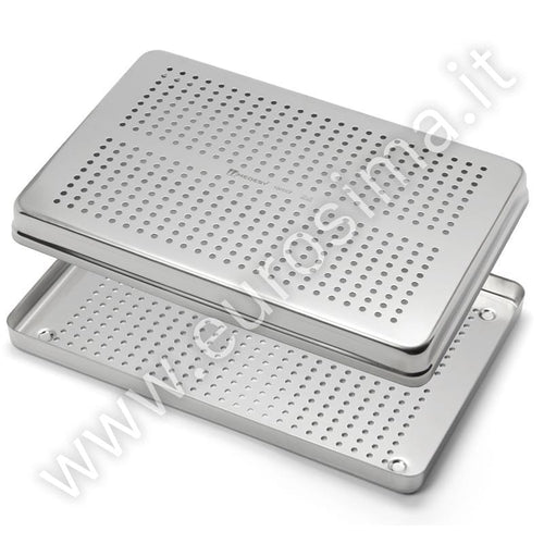 White aluminium tray with lid