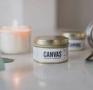 Canvas Soy Candles - 6oz gold tins