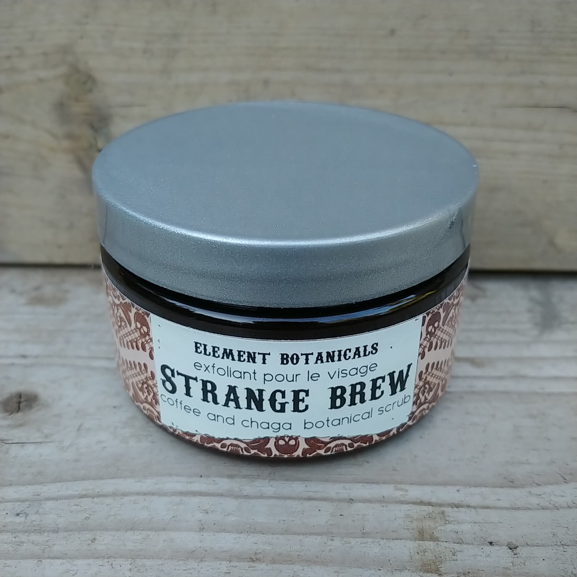 Element strange brew coffee and chaga scrub