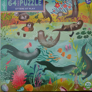 Eeboo otters at play puzzle