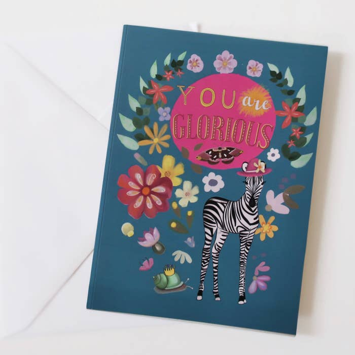 You are glorious card- glitter and earth