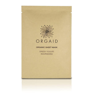 Orgaid greek yogurt nourishing sheet mask