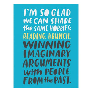 """I'm so glad we can share""... Card"